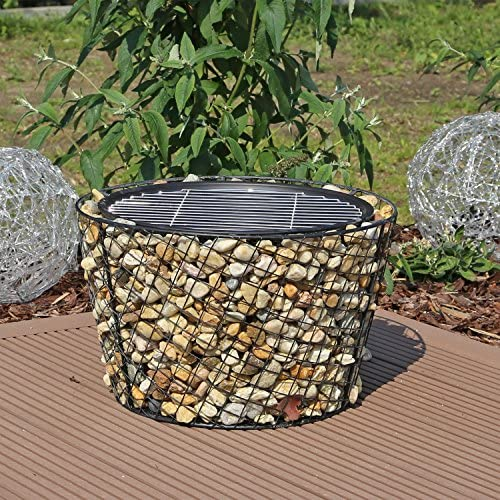Fire Bowl Size: 50.5 x 26.5 cm Fuel Types: Wood or Charcoal Stone Look//Black blumfeldt Matera Fire Bowl Fire Pit Steel MagicMag Material: MgO Artificial Stone Water and Frost Resistant
