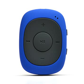 AGPTEK G02 8GB Mini Clip MP3 Player with FM Radio for Jogging Running Gym,  (sweatproof cover added), Blue