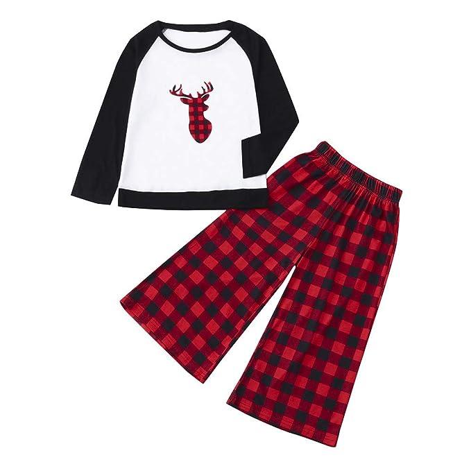SUMTTER Pigiami Natale Famiglia Coordinati Pantaloni + Maglie Pigiami Due  Pezzi Natalizi Invernali per Donna Uomo Bambina Bambino  Amazon.it   Abbigliamento ea9d3c22838