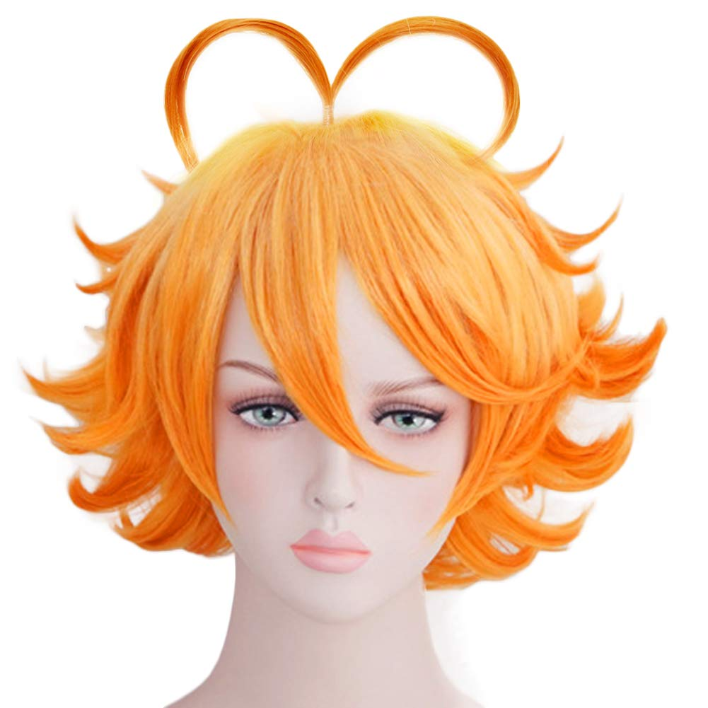 Xingwang Queen Christmas Party Wigs Short Orange Cosplay Wig with free Cap