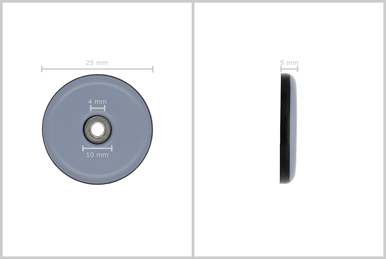 16 arandelas deslizantes de tefl/ón para tornillos de 38 mm de di/ámetro