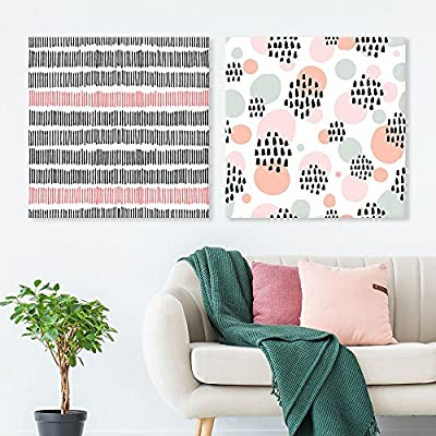 Majestic Composition, 2 Panel Square Abstract Patterns Patterns x 2 Panels, Premium Creation