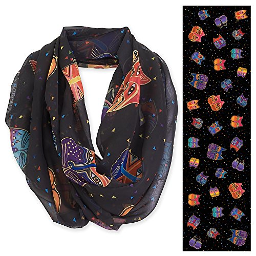 laurel-burch-artistic-infinity-scarf-202a-feline-faces-black