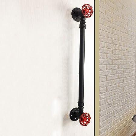 Mango de puerta de tubería de agua de hierro de estilo industrial, tienda de ropa para