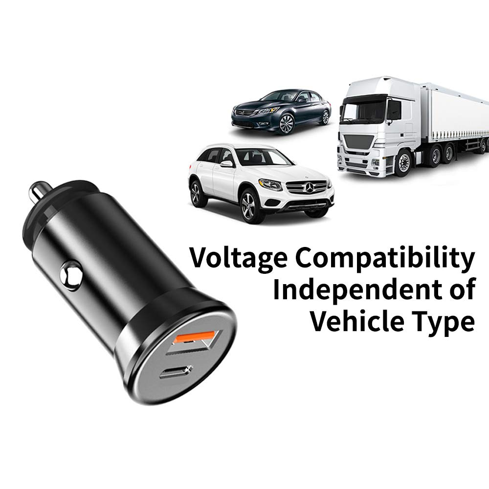 Samsung Car Charger LG GOBUKEE Super Mini 30W Metal USB C PD Fast Car Charger with Power Delivery /& Quick Charge 3.0 Dual Port Car Adapter Fit Compatible with iPhone iPad Pro//Air 2//Mini and More