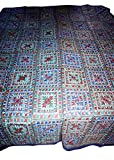 Gypsia Studio Embroidered India Mirror Work Bedding Decorative Handmade Bedspread / Throw 818