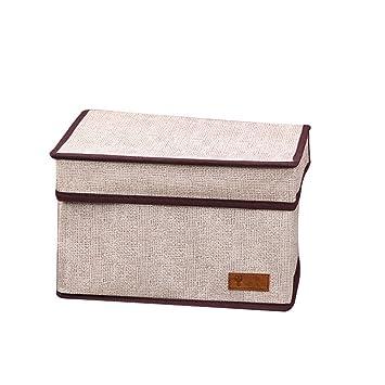 DaoRier 1pc Caja de Almacenamiento Home Decorative Foldable Storage Box Set Cajas Decorativas de Almacenamiento Plegables Cuadrado Plegable Juguete Cubo ...