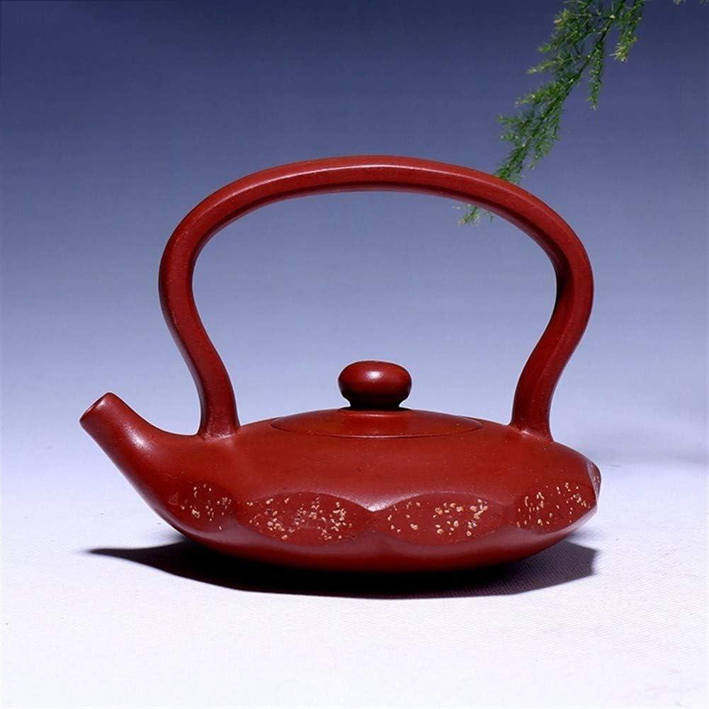 中国のティーポット ティーポットチンハイセメント愛チタン梁ポットお茶 宜興粘土のティーポットパープル砂の鍋セラミック鍋 (色 : Purple mud)