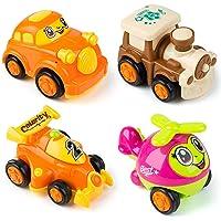 MOOKLIN ROAM Vehículos de Construcción Mini, 4Pcs Coche