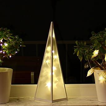 Weihnachtsbeleuchtung Fenster Pyramide.3d Weihnachtsbeleuchtung 45cm Hologramm Pyramide Weihnachten Weihnachtsdeko Fenster Led Innen Lichtpyramide Lichtkegel Leuchtpyramide 45cm
