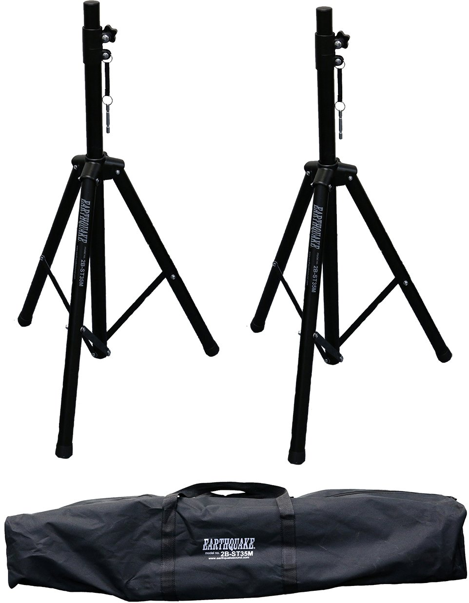 Earthquake Sound 2B-ST35M Heavy Duty Speaker Stands with Carry Bag, max weight of 132 lbs per stand (Pair) by Earthquake Sound