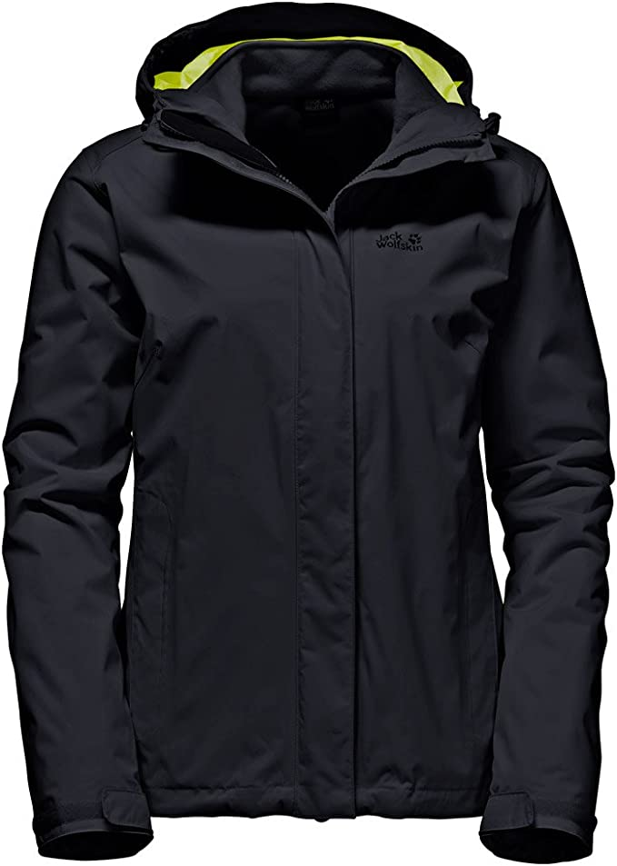 Jack Wolfskin Damen 3 in 1 Jacke Doppel Jacke Crush`N Ice Women schwarz