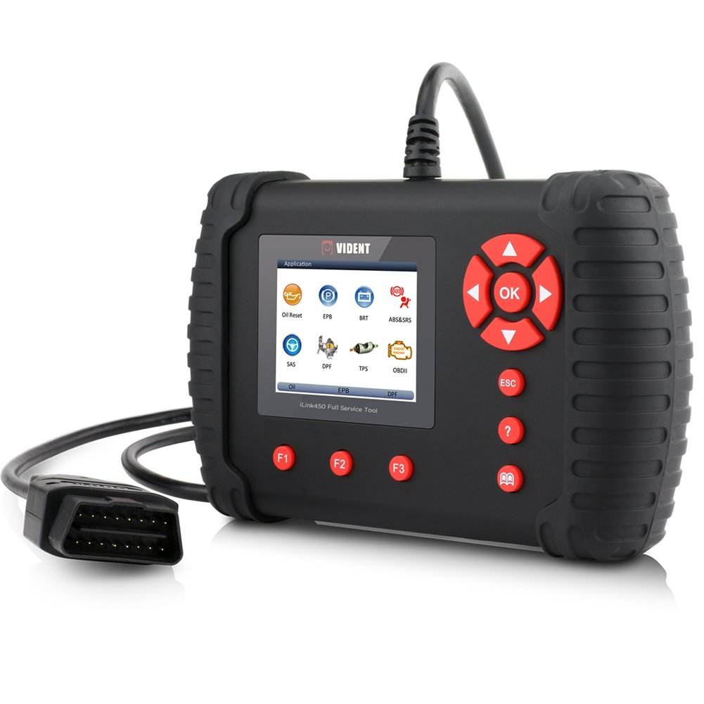VXCAN iLink450 OBD2 Scanner Code Reader for ABS SRS System Support Oil Reset EPB SAS TPS DPF Regeneration Battery Configuration OBDII Diagnostic Scan Tool by VIDENT (Image #5)