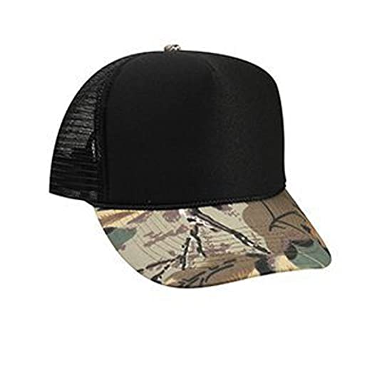 ba3e3adcba5 Otto Caps Camouflage Cotton Twill Visor Polyester Foam Front Two Tone Color Five  Panel High Crown