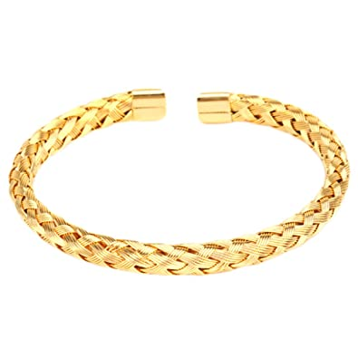1d77530ca4cc MESE London Brazalete Trenzado 18ct Chapado En Oro 'The Hope' en ...