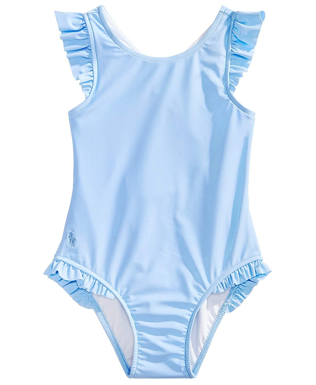 RALPH LAUREN Baby Girls Ruffled One Piece Swimsuit 18 Months