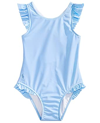 f2342850ef7ba Image Unavailable. Image not available for. Color: RALPH LAUREN Baby Girls  Ruffled One Piece Swimsuit ...