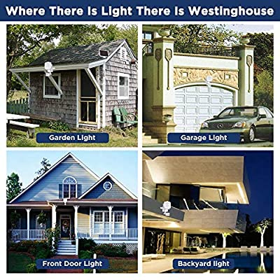 Westinghouse Solar Lights Outdoor 2000 Lumens Solar Motion Sensor Lights with 130°Wide Angle Security Flood Light Easy-to-Install Weather Resistant LED Solar Light Lighting for Front Door, Garage, Yard