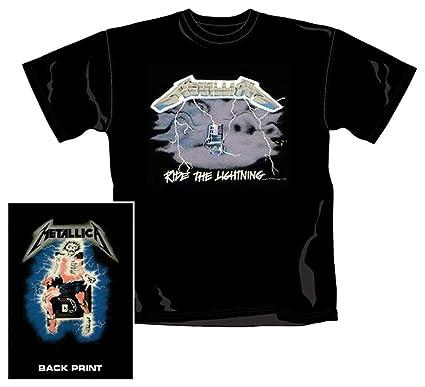 c38952d9f9a Metallica - Ride The Lightning - T-Shirt  Amazon.co.uk  Clothing