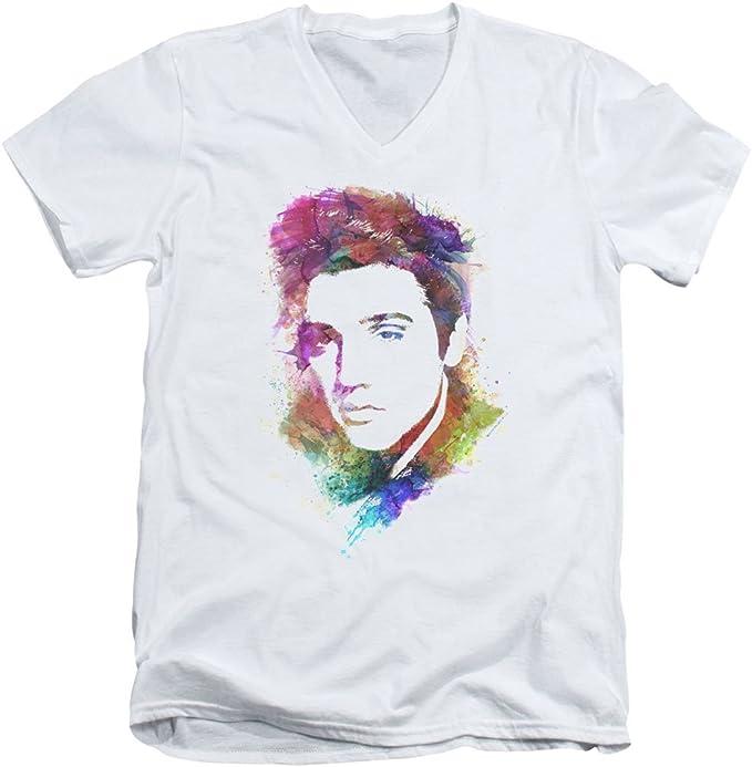 Elvis/Watercolor King - Camisa para Hombre, Cuello en V ...