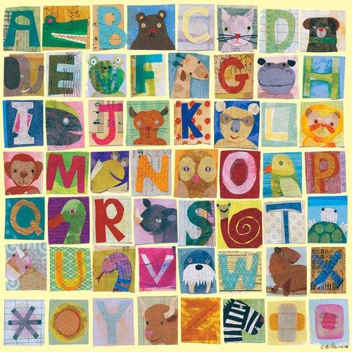 Oopsy Daisy Animal Alphabet by Maria Carluccio Canvas Wall Art, 18 by (Oopsy Daisy Collage)