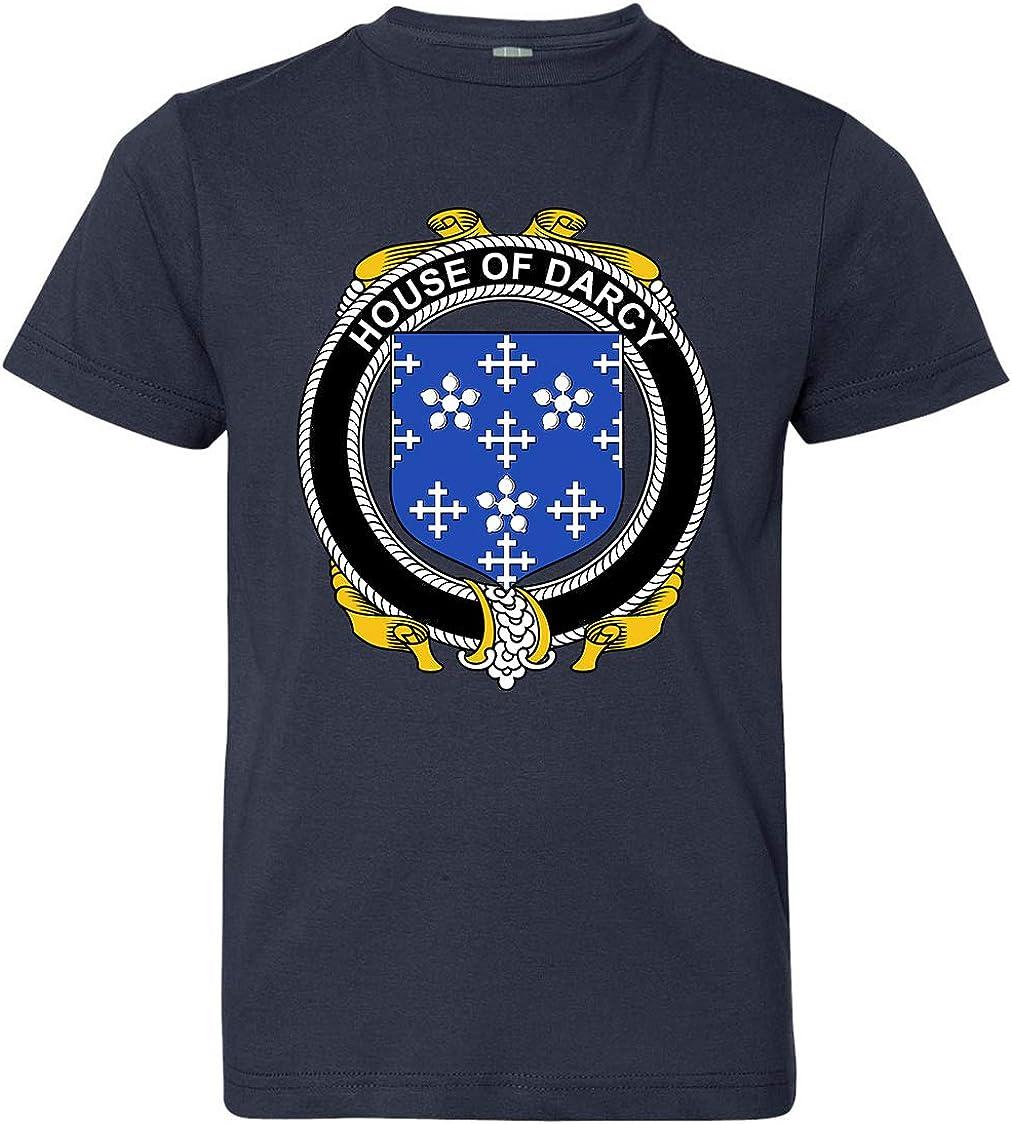 Medium Navy Tenacitee Boys Youth Irish House Heraldry Darcy T-Shirt
