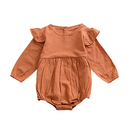 eb1b124b90d04 Amazon.com: Bokeley Infant Romper Baby Girl Twins Outfit Butterfly ...