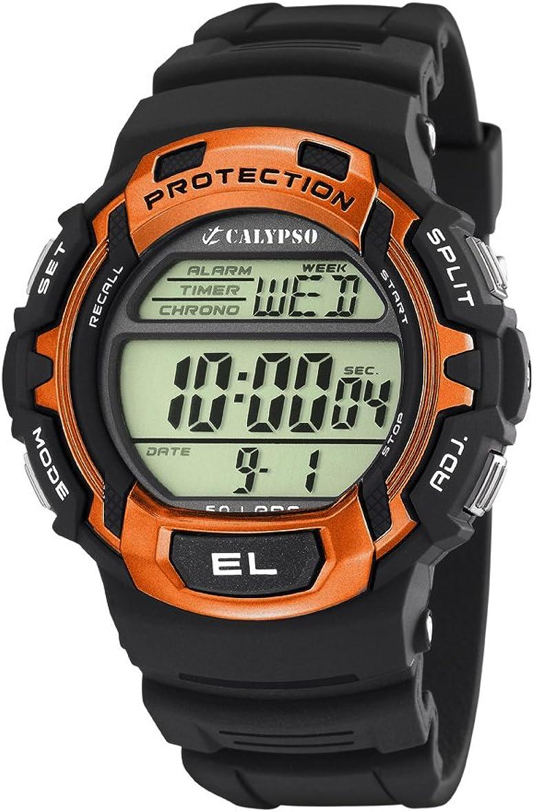 Calypso K5573/3 - Reloj de Caballero de Cuarzo, Correa de plástico Color Negro