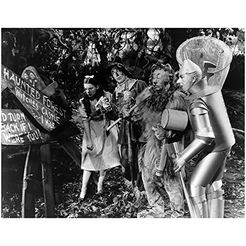 [The Wizard of Oz Wicked Dorothy The Tin Man Scarecrow and Cowardly Lion By Haunted Forest Sign 8 x 10] (Haunted Forest Wizard Of Oz)