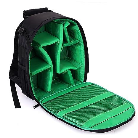 SYAODU Backpacks Mochila para Cámaras Réflex y Accesorios, Bolsa de Cámaras de Nylon Resistente al
