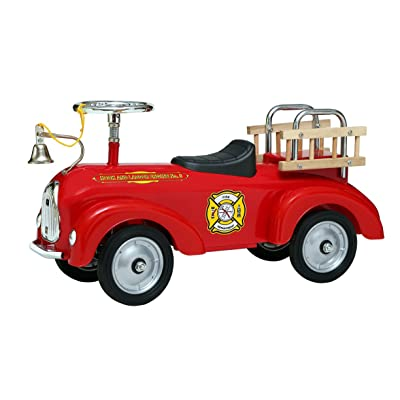 Morgan Cycle Fire Engine ScootSter Riding Toy: Toys & Games [5Bkhe0706444]