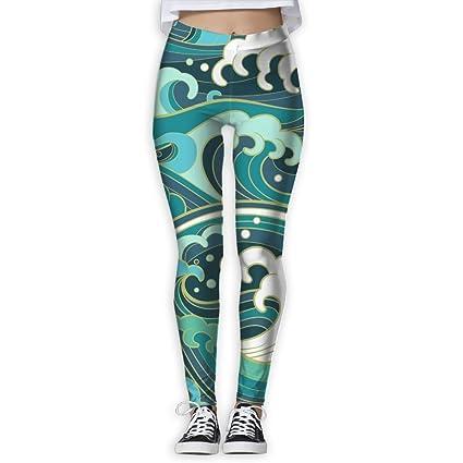 bcc87397a2 Amazon.com   Womens Funny Rough Waters Printed Yoga Leggings Pants ...