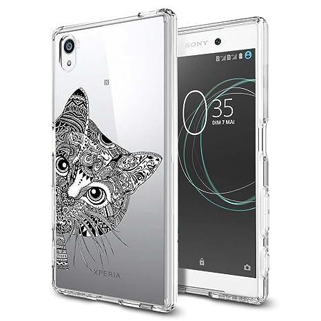 ocketcase Sony Xperia E6 / Xperia L1 Funda, TPU Carcasa Suave Silicona Flexible Gel Funda Resistente a los Arañazos Tapa Protectora Case Cover (Gato)