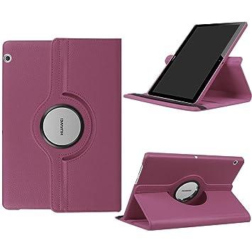 DETUOSI Fundas Huawei MediaPad T3 10 Funda de Cuero Giratoria 360 Grados Smart Case Cover Protectora Carcasa con Stand Función para Tablet Huawei T3 ...