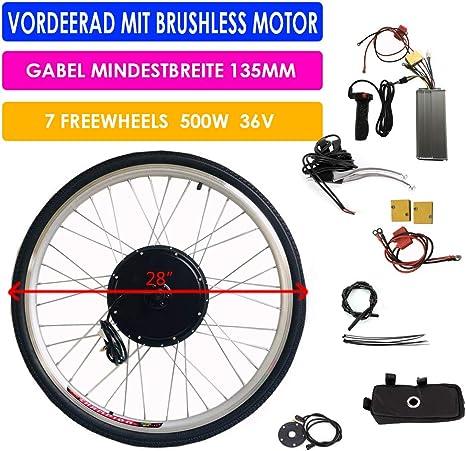 SHIOUCY Kit de conversión de Bicicleta eléctrica de 28 Pulgadas para Bicicleta eléctrica, Kit de conversión de Motor Trasero, 36 V, 500 W, Kit de conversión de Rueda Trasera: Amazon.es: Deportes y