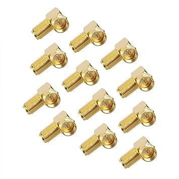 VCE - 12 adaptadores de Conector F para Cable coaxial de ...