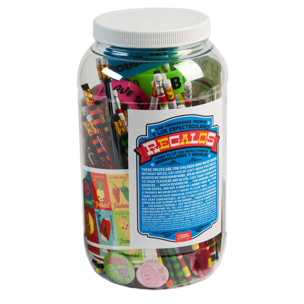 Prize Jar Incentive Spanish Assortment 100+ Pieces by Teacher's Discovery