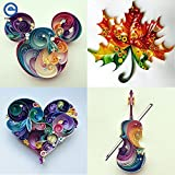 Lavenz 6 In 1 DIY Quilled Creation Paper Craft Paper Scrapbook Quilling Tools Set Crafts And Scrapbooking For Party Gift Decoration