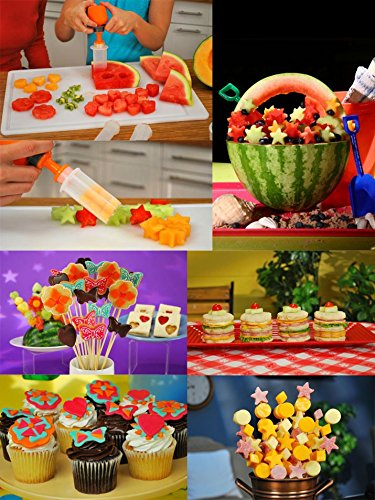 Fruit Shape Cutters Fruit And Vegetable Shape Cutter - 1Set Fruit Salad Carving Vegetable Fruit Arrangements Smoothie Cake Tools Kitchen Dining Bar Cooking Accessories - Fruit Vegetable Cutter (Hello Kitty Fruit Arrangement)