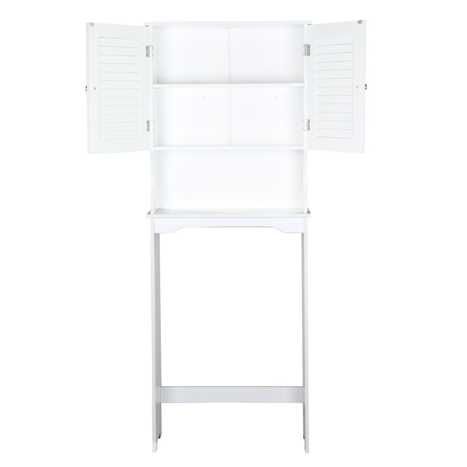 Joveco Over the Toilet Storage Space-saver Cabinet, Shelves. White Finish