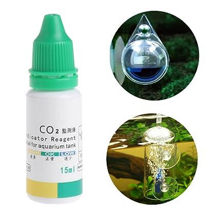 Dabixx Indicador de CO2 para acuario, solución de peces, tanque líquido, plantas de