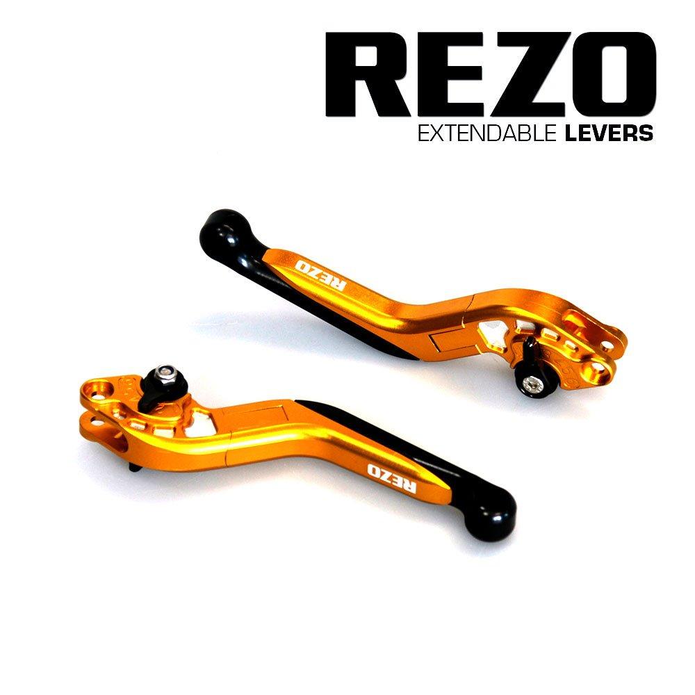 Rezo rez-setv2 –  2-gld-0042 V2 regolabile CNC allungabile moto leve per Suzuki gsx-r 1000 2005 –  2006, oro China REZ-SETV2-2-GLD-0042