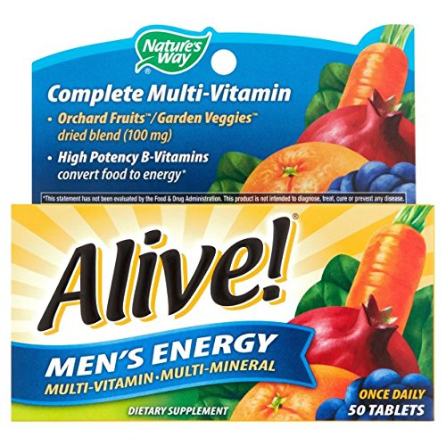 Nature s Way Alive Men s 50 Plus Multivitamin and Mineral Tablets, 50 Count 4 Packs