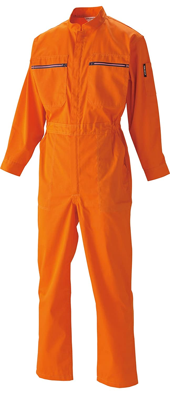 [サンディスク]SUN DISK【ツナギ服】通年 国内染色 カラーファスナー 静電気超帯電防止 リサイクル素材《044-133/131/132》 B01EBA7DZO  132-オレンジ LL