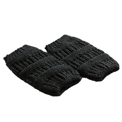 shusuen Women Winter Cable Knit Leg Warmers Warm Knit Leg Warmers Crochet Leggings Slouch Boot Double