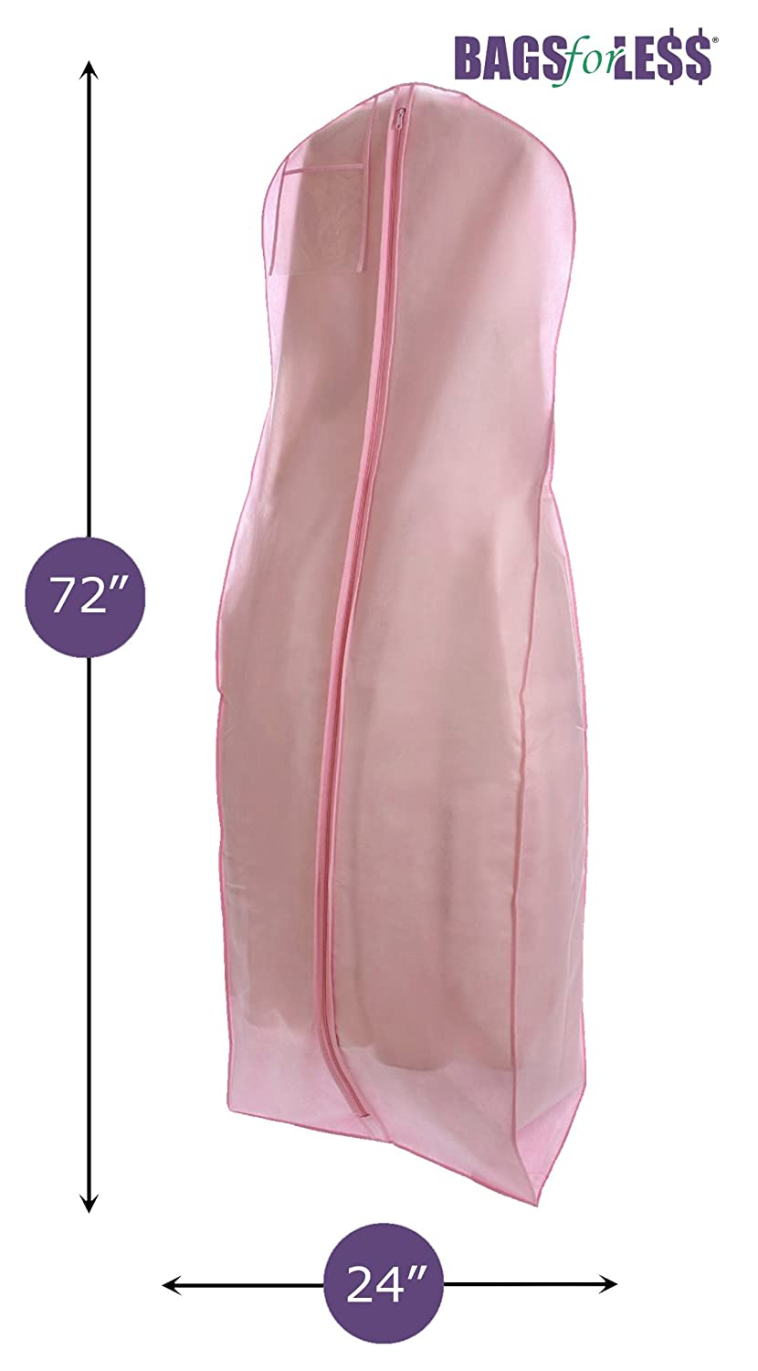 Amazon.com: Pink Wedding Gown Travel & Storage Garment Bag By Bags ...
