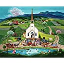 Springbok Alzheimer & Dementia Jigsaw Puzzles - Spring Wedding - 100 Piece Jigsaw Puzzle - Large 23.5 Inches by 18 Inches Puzzle - Made in USA - Extra Large Easy Grip Pieces