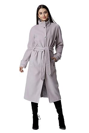 Figl klassischer, Einreihiger Mantel mit Stehkragen und