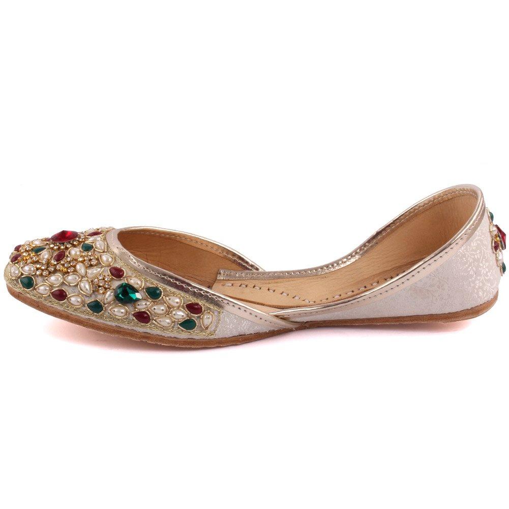 Unze New Women '' Opal 'traditionnel à la main en cuir Chaussures Khussa à chaussures Chaussures UK Size 3-8 PcdrNwIKB
