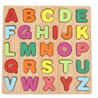 Wooden Numbers Alphabet, Colorful Early Education Children Toy Alphabet/Number Puzzle Set Gift for Kids Children…